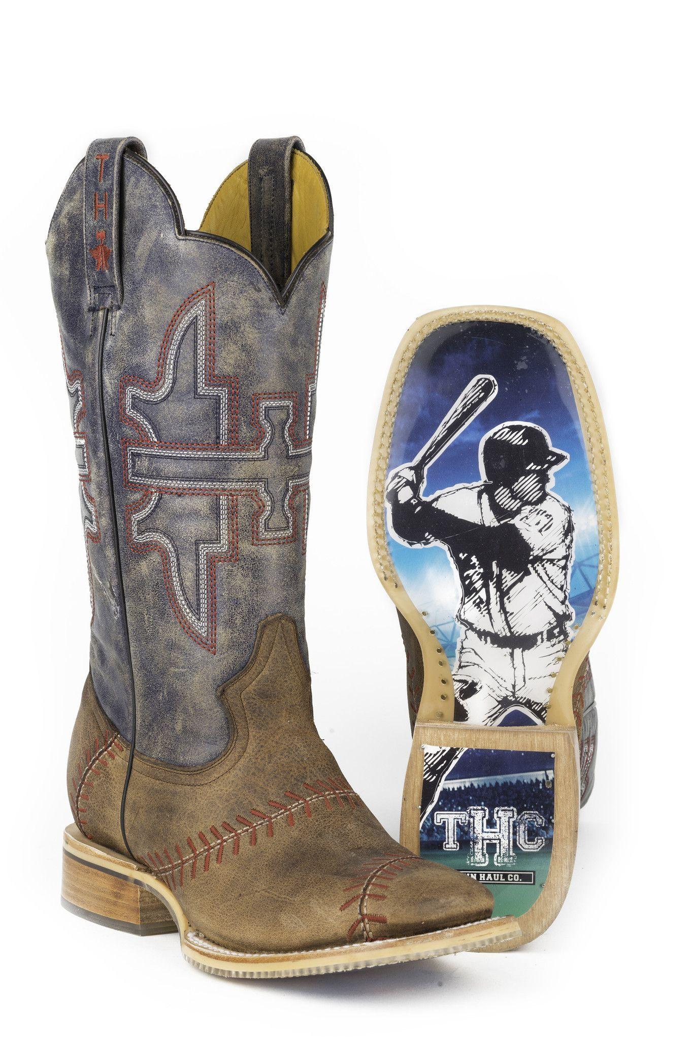 fd33e8ca2fb Tin Haul Men's Slugger Boots | Shoes ❤️ | Cowboy boots square toe ...
