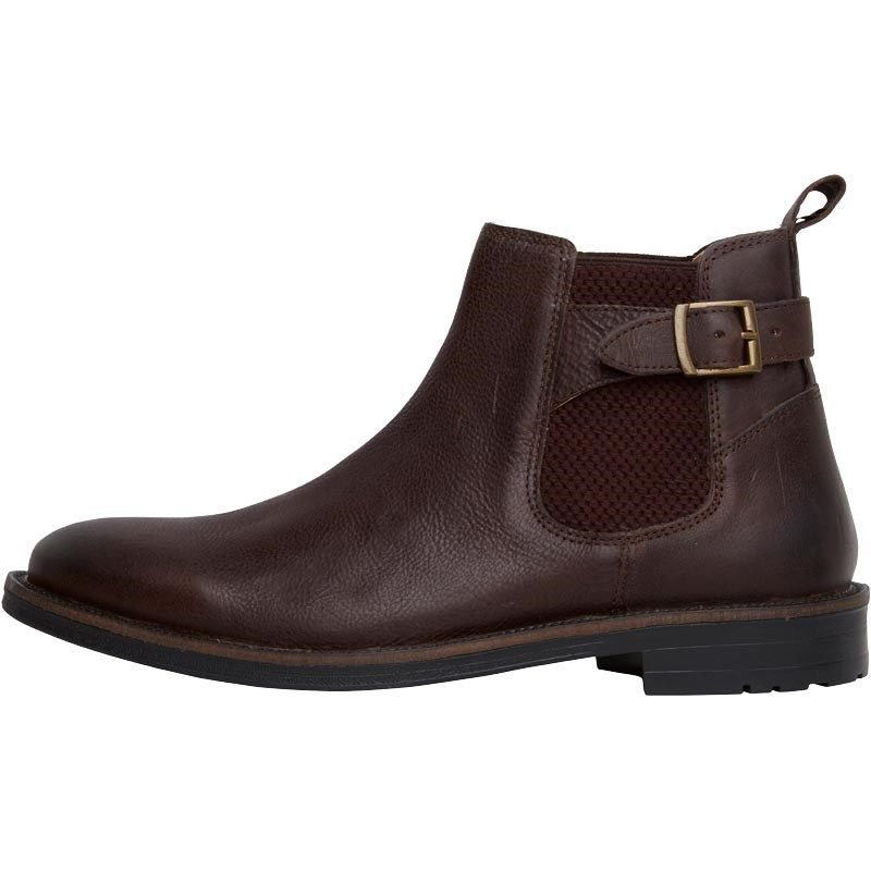8d2c66385a1679 Onfire Mens Leather Chelsea Boots Brown