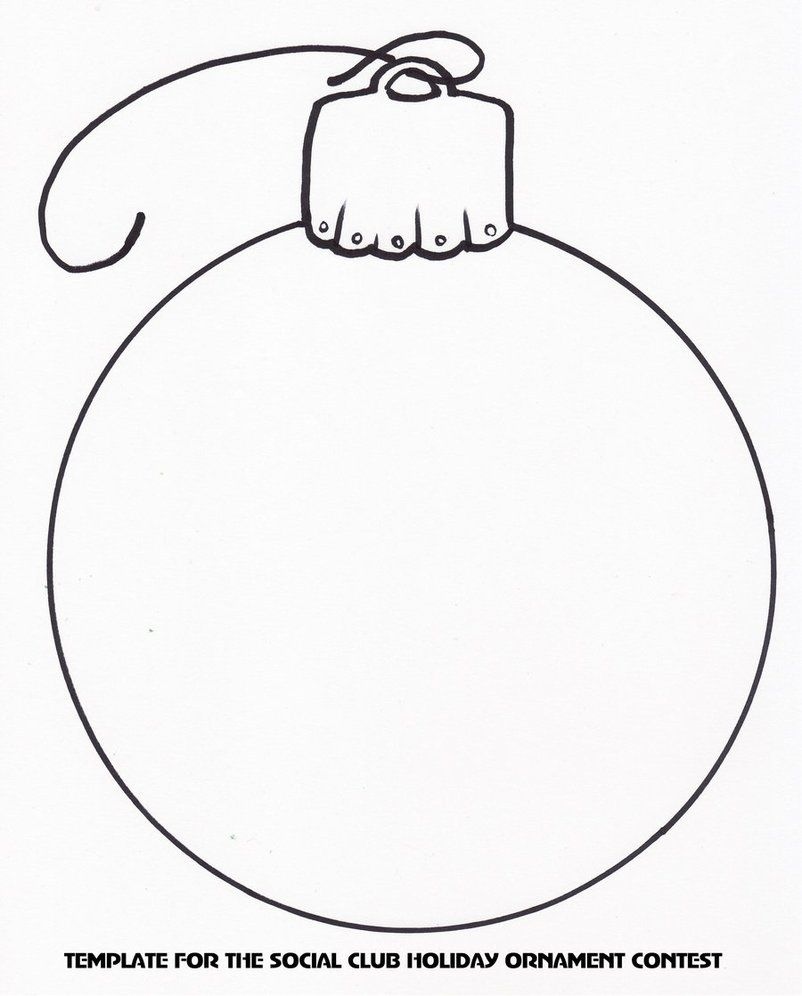 It's just a photo of Stupendous Free Printable Christmas Ornament Templates