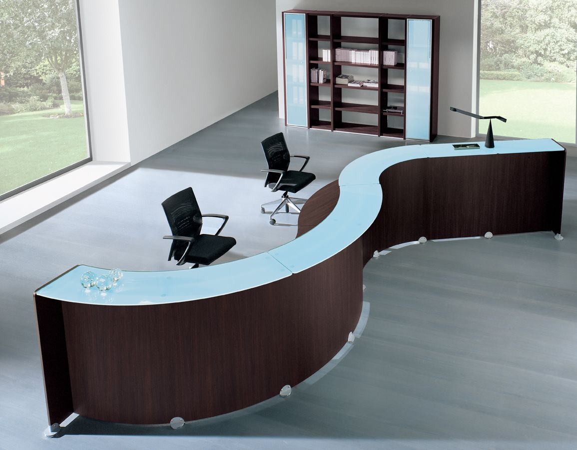 Modern Office Furniture Reception Desk Captivating 2018