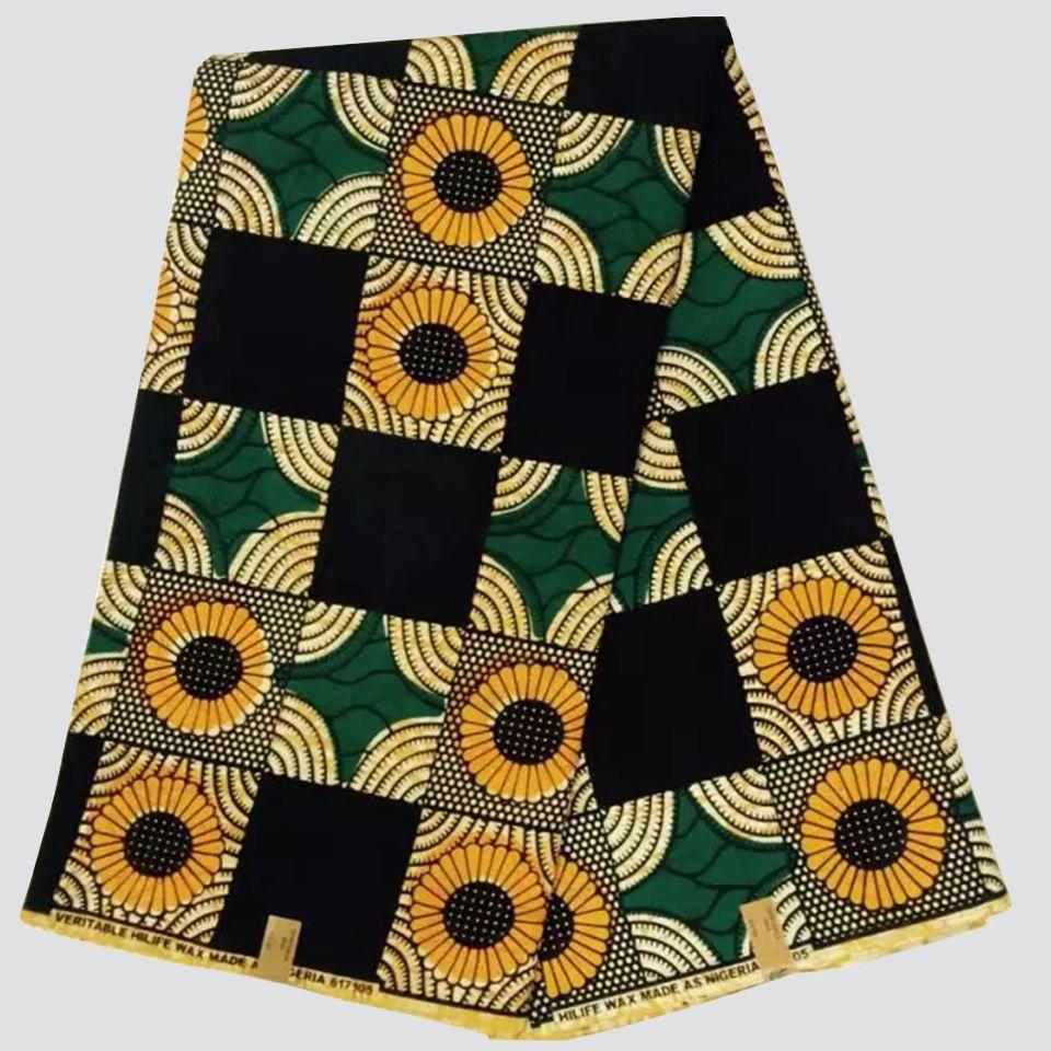 African Wax Print Ankara Fabric Veritable Superior Quality Per Yard or 6 yards
