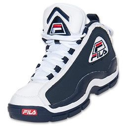 Men's FILA 96 Basketball Shoes | FinishLine.com | Navy/White/Red ...