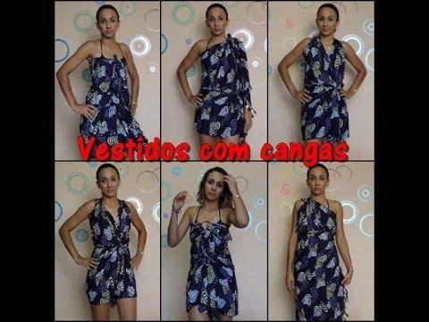 d584d1641 DIY - Vestidos com cangas. - YouTube