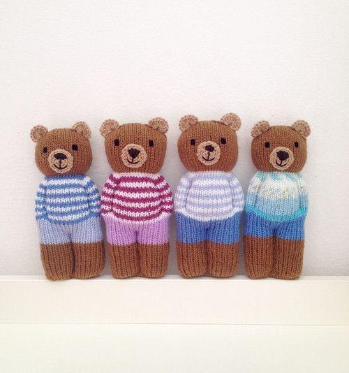 ANWEISUNGEN - gestrickter Teddybär / Verkäuferwaren Margherita Anweisungen Fler.cz #knitteddollpatterns