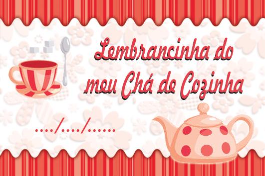 Tag Gratuito Para Cha De Cozinha Tema Xicaras Para Baixar E