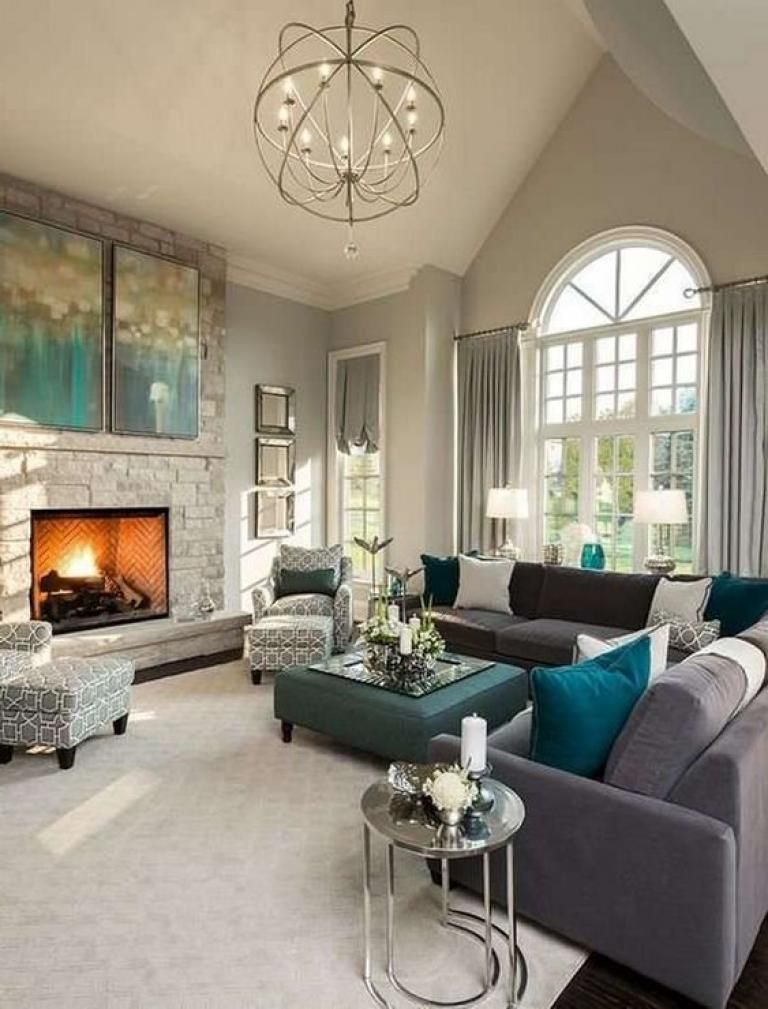 Best Beautiful Grey Living Room Decoration Ideas Livingroom 640 x 480