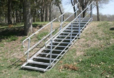 Best Anywhere Stairs Portable Portable Stairs Aluminum Steps Walkways Ponds Trails Sl*P* 400 x 300