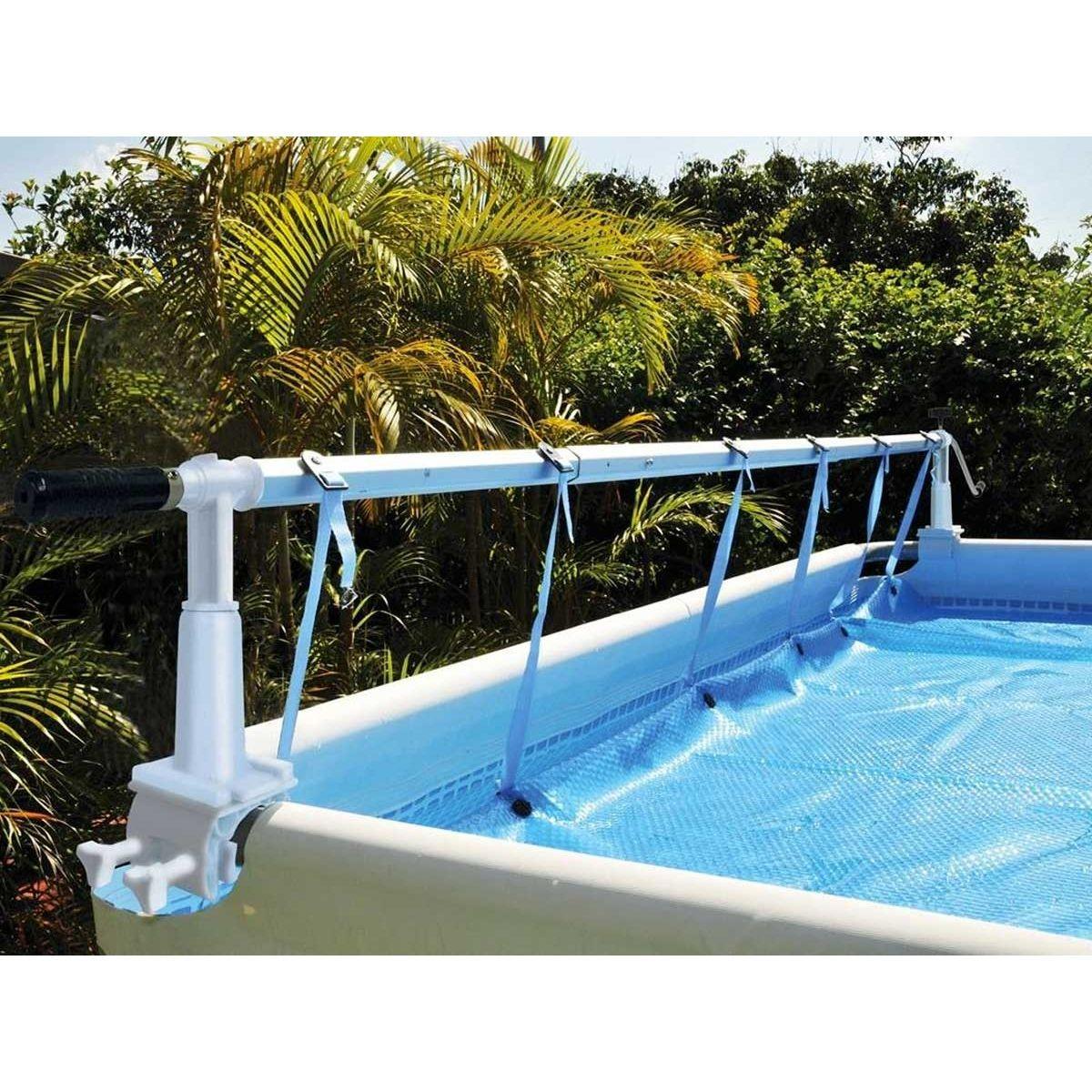 Enrouleur de bâche à bulles Solaris 10 pour piscine hors-sol
