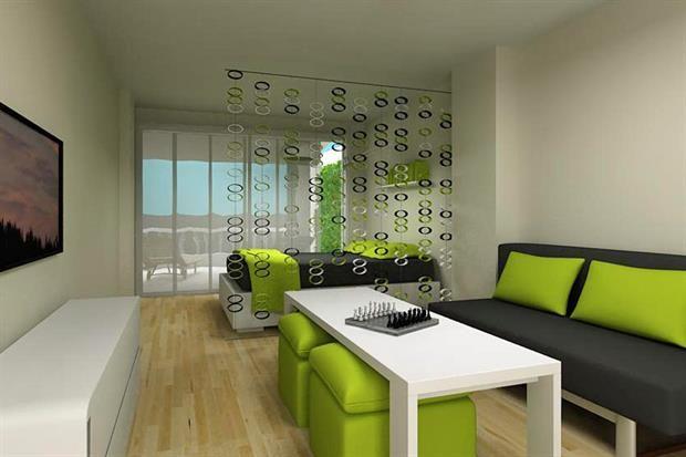 Soluci n 192 c mo dividir un monoambiente de 30m2 for Decoracion piso 30m2