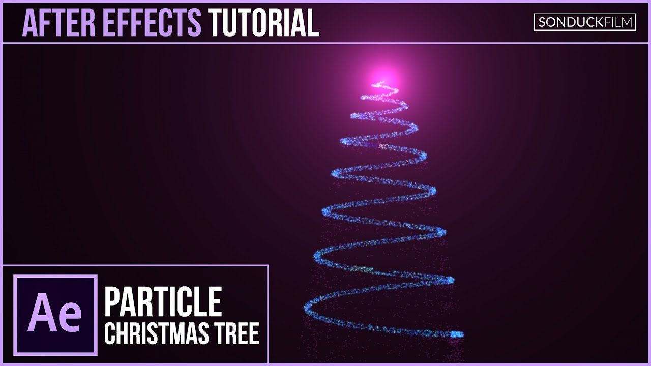 After Effects Tutorial: Particle CHRISTMAS TREE Animation