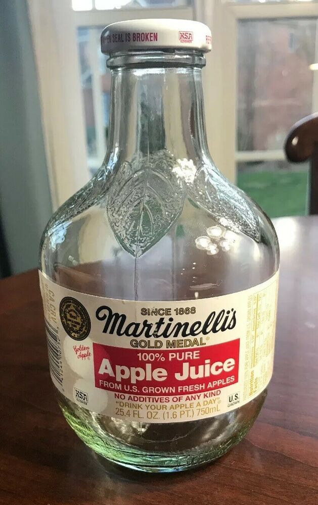 MARTINELLI's Since 1886 Drink Your Apple a Day Embossed