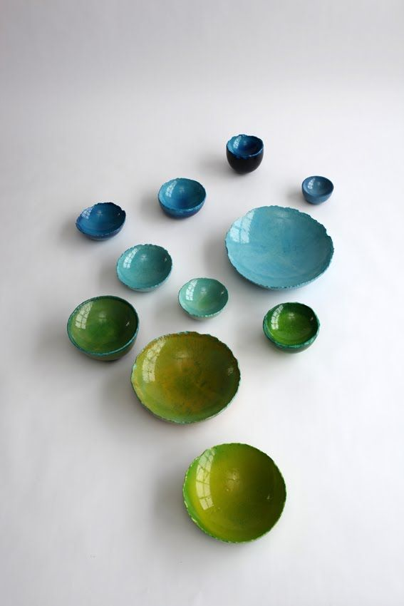 Baloon Bowls, bowls are the platonic useful vessel.  They should be pretty.