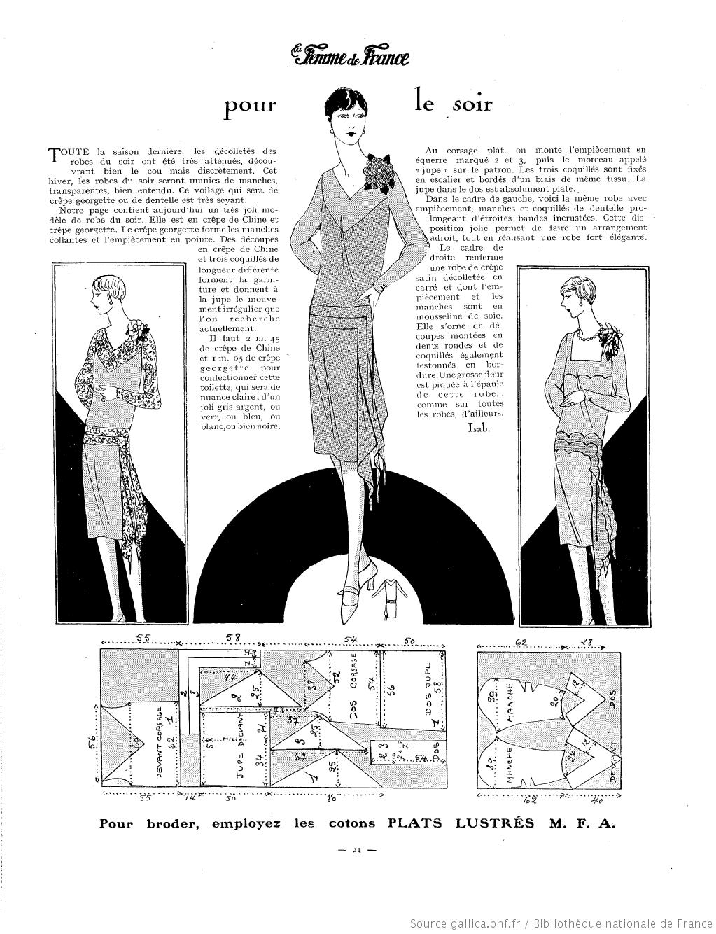 La Femme de France 1927 | costume Recons | Pinterest | Patrones ...