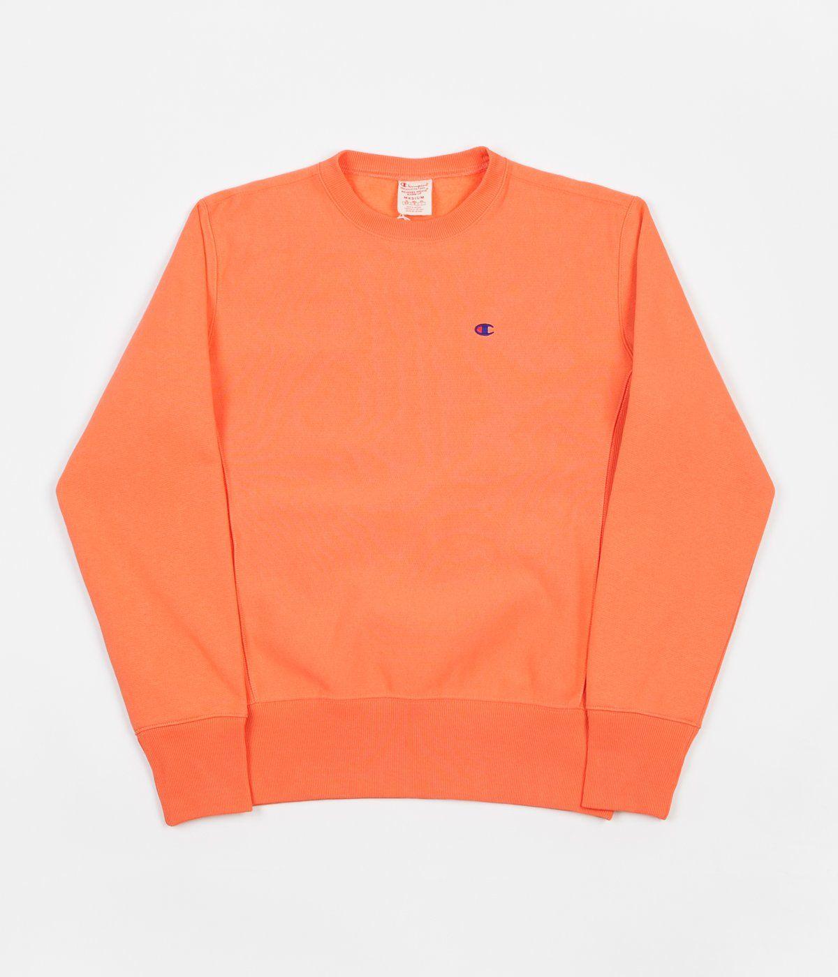 Champion Reverse Weave Classic Crewneck Sweatshirt Peach Champion Reverse Weave Crew Neck Sweatshirt Sweatshirts [ 1400 x 1200 Pixel ]