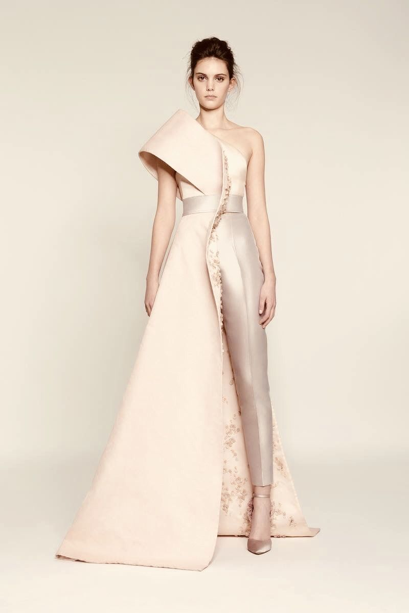 cb47cc1925 A light pink formal gown-suit hybrid. | ...THE FUTURE in 2019 ...