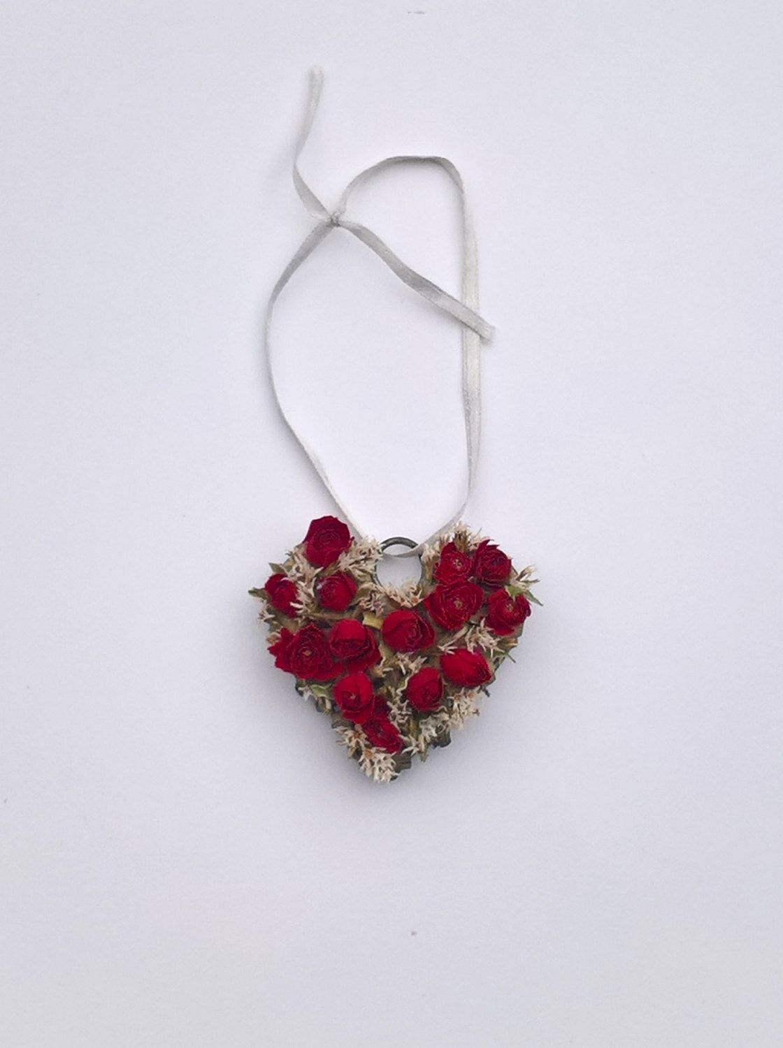 Red Rose Mini Heart, dried flowers, red roses, table setting, home ...