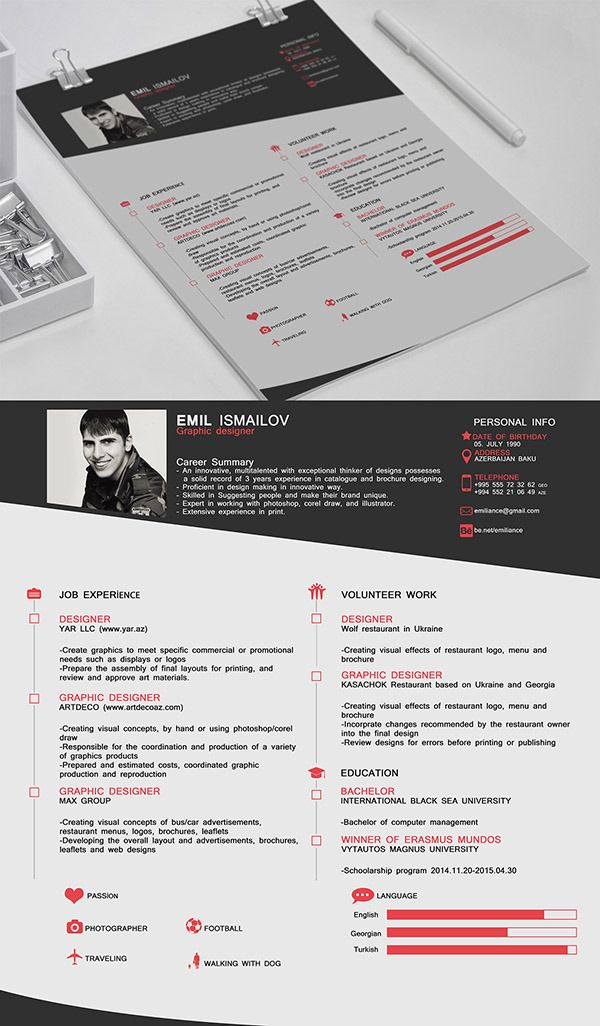 CV FREE Resume Template resume psd Pinterest Psd templates - make free resume