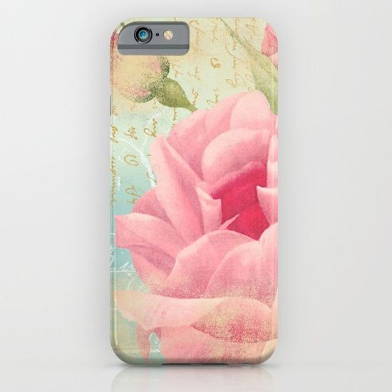 #vintage #pink #red #flowers #floral #woman #girly #pretty #shabby #spring #summer available in different #homedecor products. Check more at society6.com/julianarw #phonecase