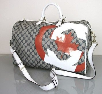 Gucci Large Boston Travel Duffle Canada Canadian Flag 308264 New Multi Color Travel Bag Save 24 On The Gucci Large Boston Trave Bags Gucci Luggage Travel Bag