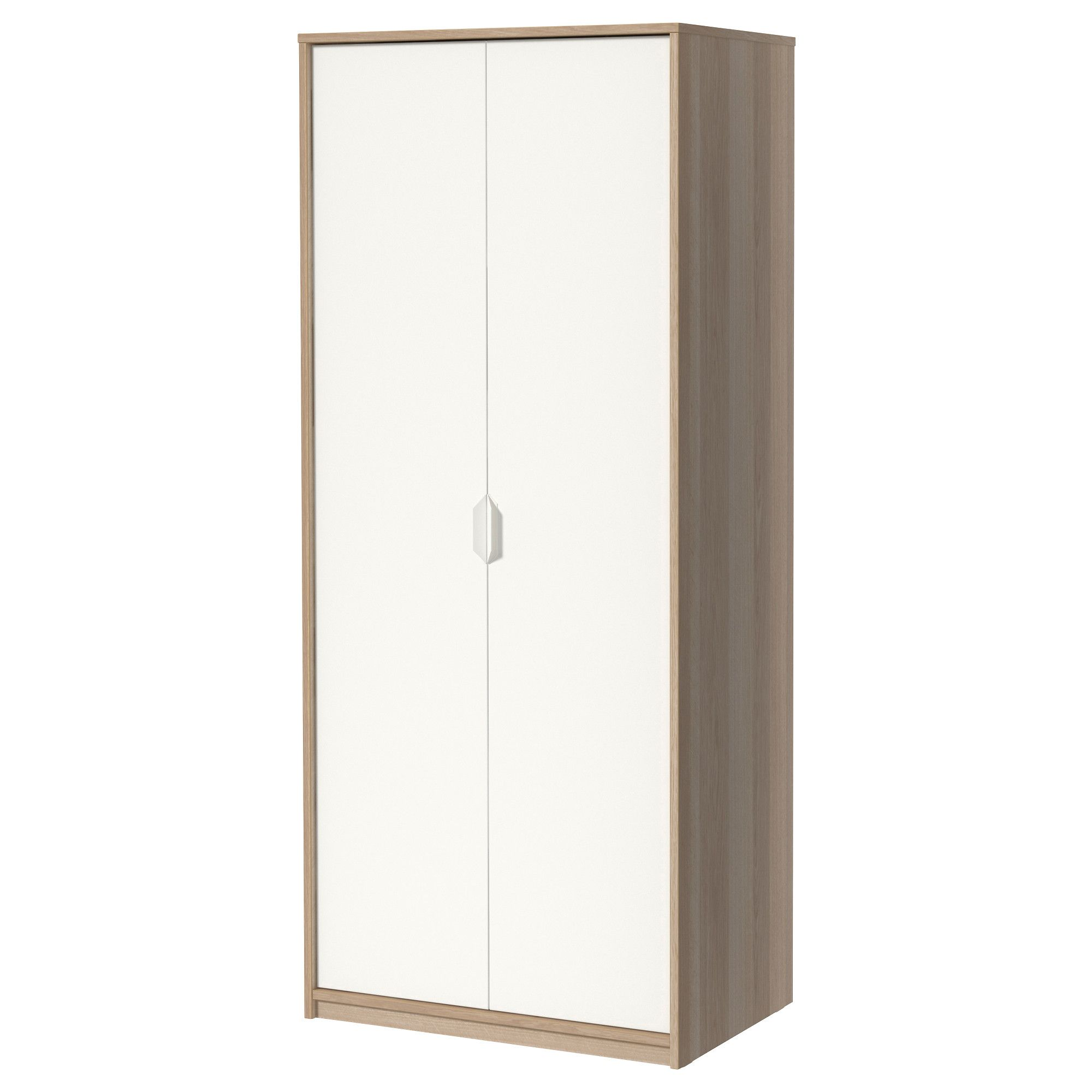 ASKVOLL Wardrobe White Stained Oak Effect/white 80x52x189