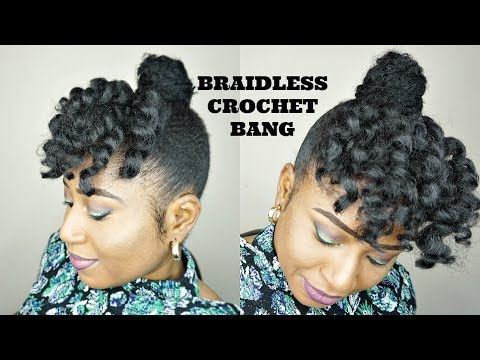 Faux Crochet Bangs And Bun Jamaican Bounce And Marley Hair Youtube Short Natural Hair Styles Marley Hair Natural Hair Styles
