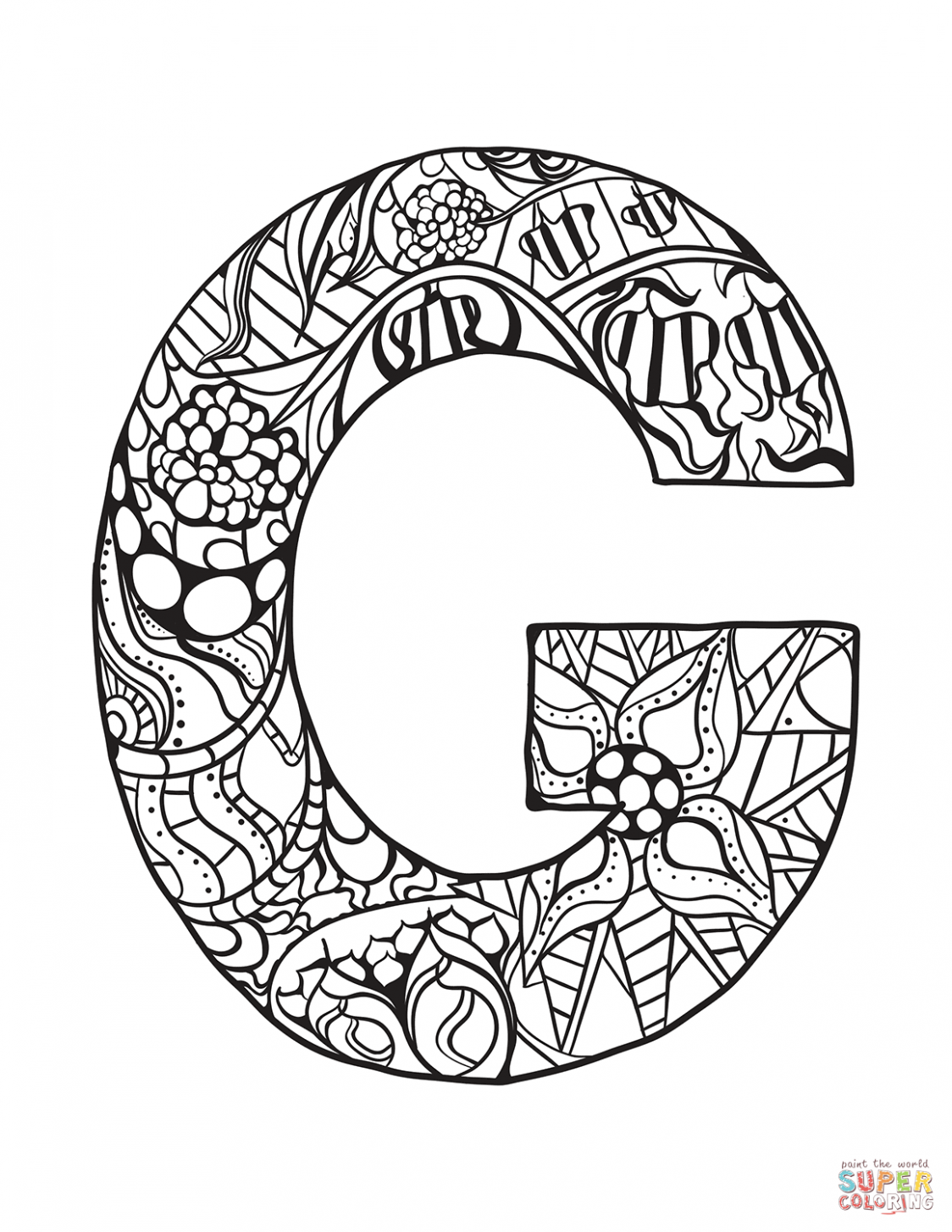 8 Letter G Coloring Worksheets In