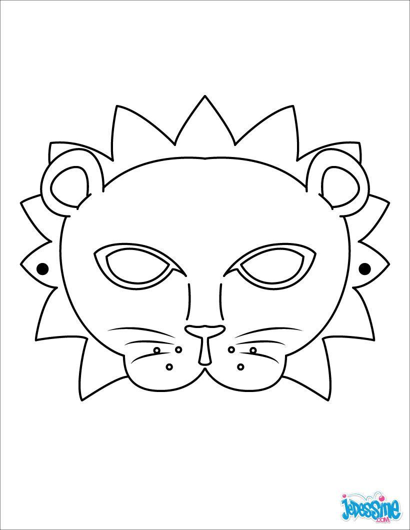 Masque  imprimer Masque de lion