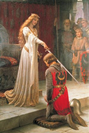 Accolade by Edmund Blair Leighton History Giclee Repro choose Canvas or Paper