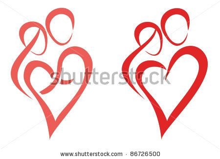 Family Love Symbol Of Two Young People Hug Each Other By Baldyrgan