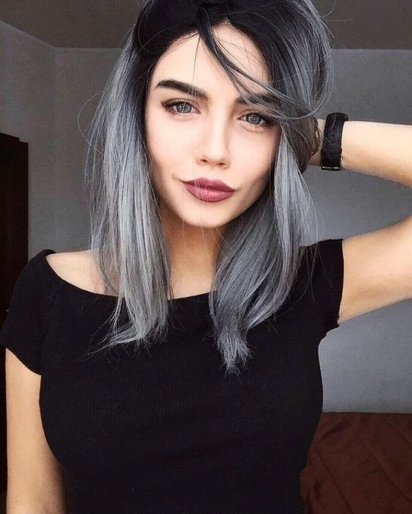 21 Silver Hair Colour Ideas to Go Gray this Season #ombrehair