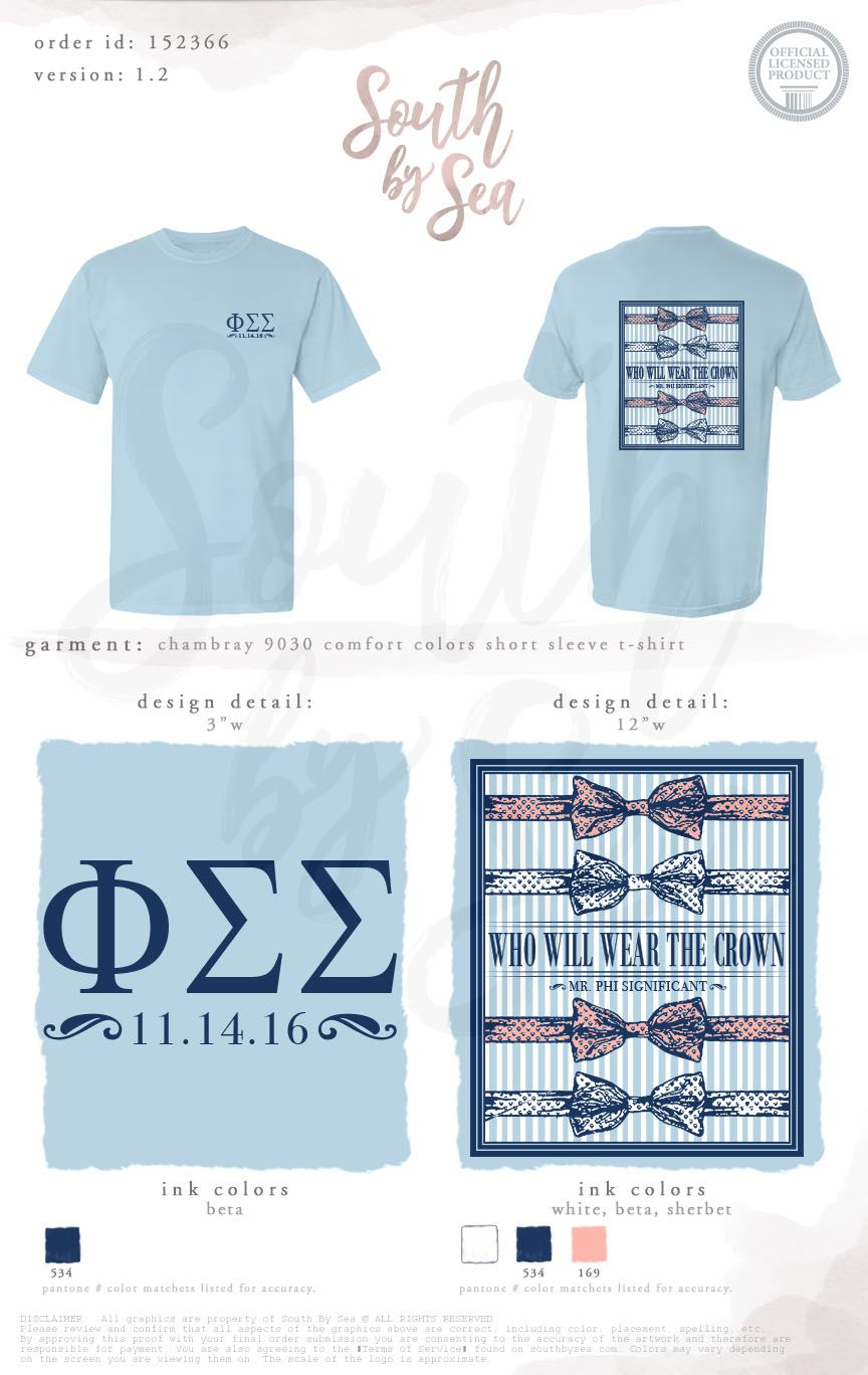 Phi Sigma Sigma Who Will Wear The Crown Pageant Design Bow
