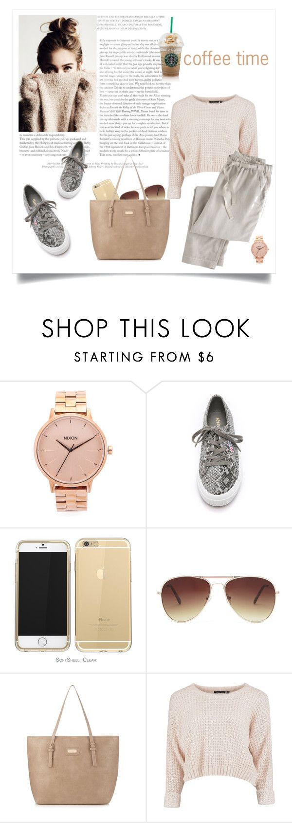 """""""Untitled #24"""" by snztrk ❤ liked on Polyvore featuring Nixon, Superga, Forever 21, kangol and Wrap"""
