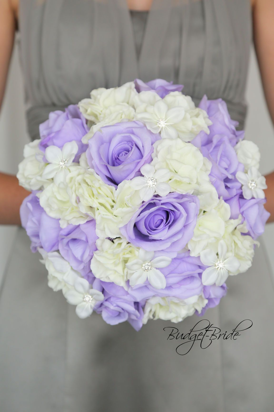 Mercury David Bridal Wedding Bouquet With Lavender And White Flowers