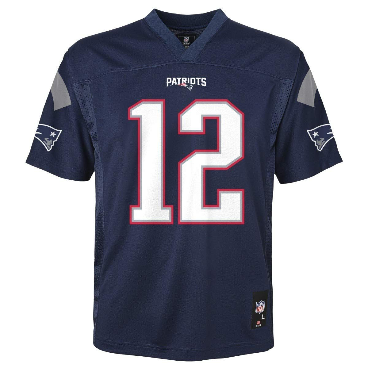 Roll Over Image To Zoom In Outerstuff Tom Brady New England Patriots Nfl Youth Navy Home Mid Tier J Jersey Patriots New England Patriots Tom Brady News