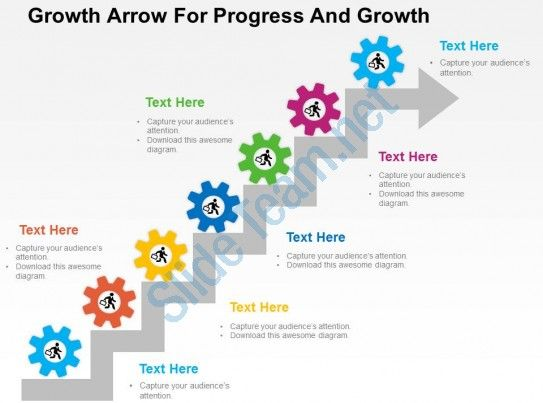 growth arrow for progress and growth flat powerpoint design slide01