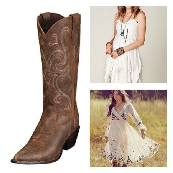 1000  images about dresses with cowboy boots on Pinterest | Boots