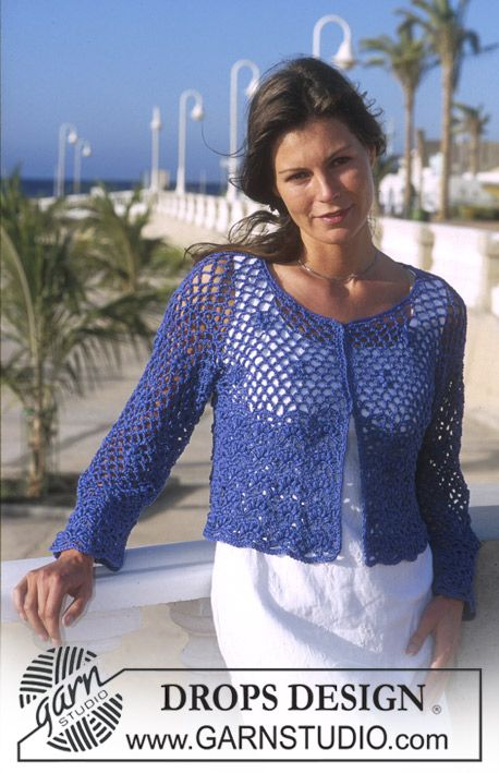 DROPS Crocheted Cardigan in Muskat ~ DROPS Design | Awesome Crafts ...