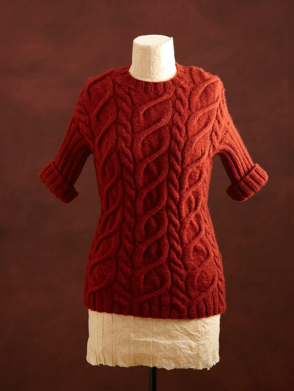 Cabled Pullover And Cowl Pattern (Knit) | Points Irlandais ...