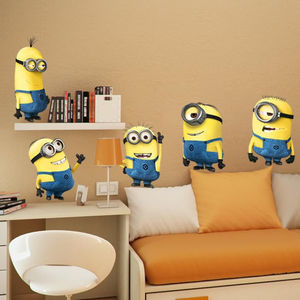 Minion Wall Decor despicable me 2 wall stickers vinyl art decals room kid decor