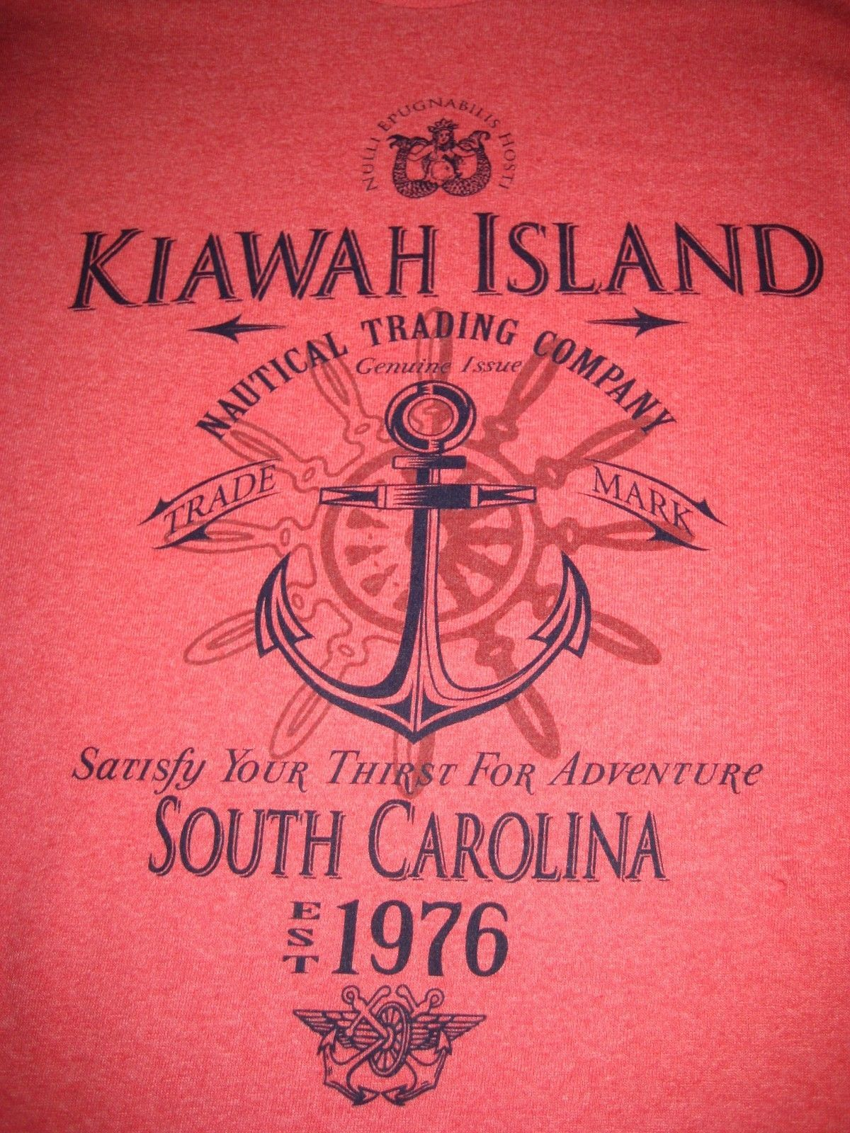 KIAWAH ISLAND TShirt Size Large Red Cotton Graphic T