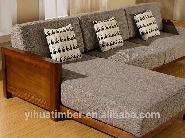 Source Latest design wooden sofa furniture Living Room Sofas on m ...