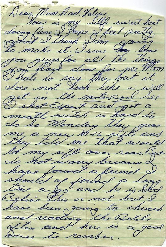heartwarming letter from soldier to family members – vietnam war