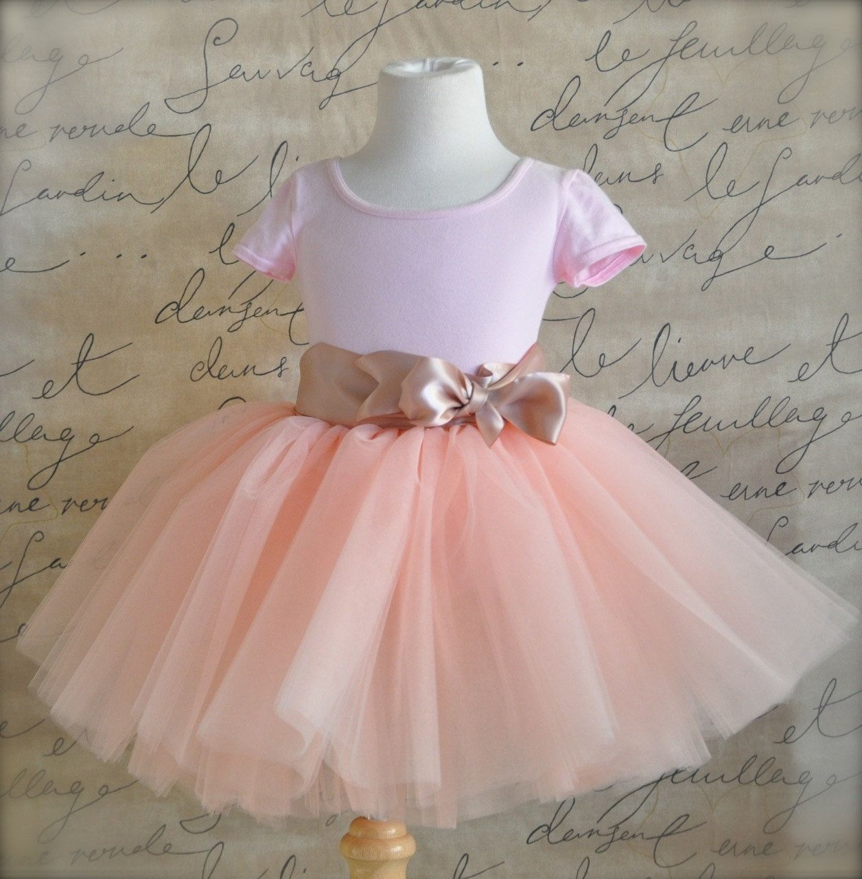 Vintage pink 8 super fluffy sewn tutu with ribboned waist. First ...