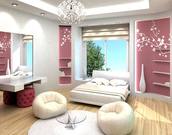 interior modern bedroom design ideas for teenage girls - Interior Teen Bedroom Design