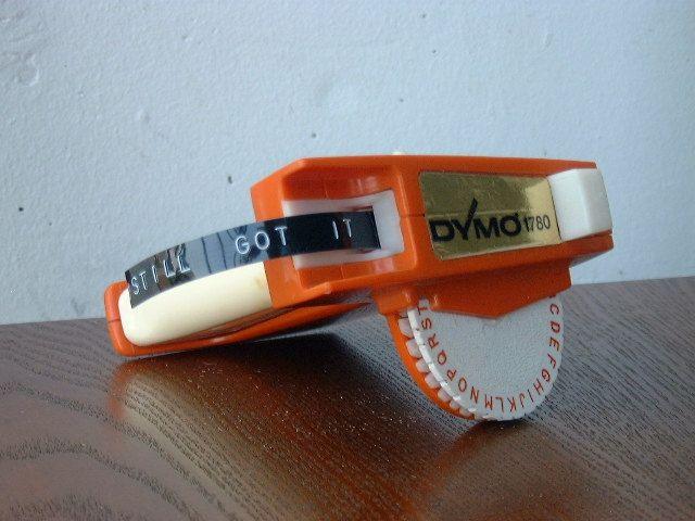 Dymo Embossing Label Maker Vintage Is Timeless Vintage Dymo Stillgotit Embossing Label Maker Label Maker Dymo Label