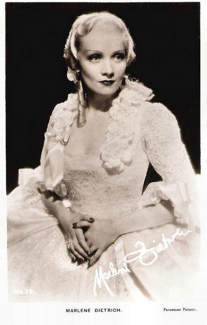 Marlene Dietrich | British postcard by Film-Kurier Series, London, no. 19. Photo: Paramount Pictures. Publicity still for The Scarlet Empress (Josef von Sternberg, 1934)