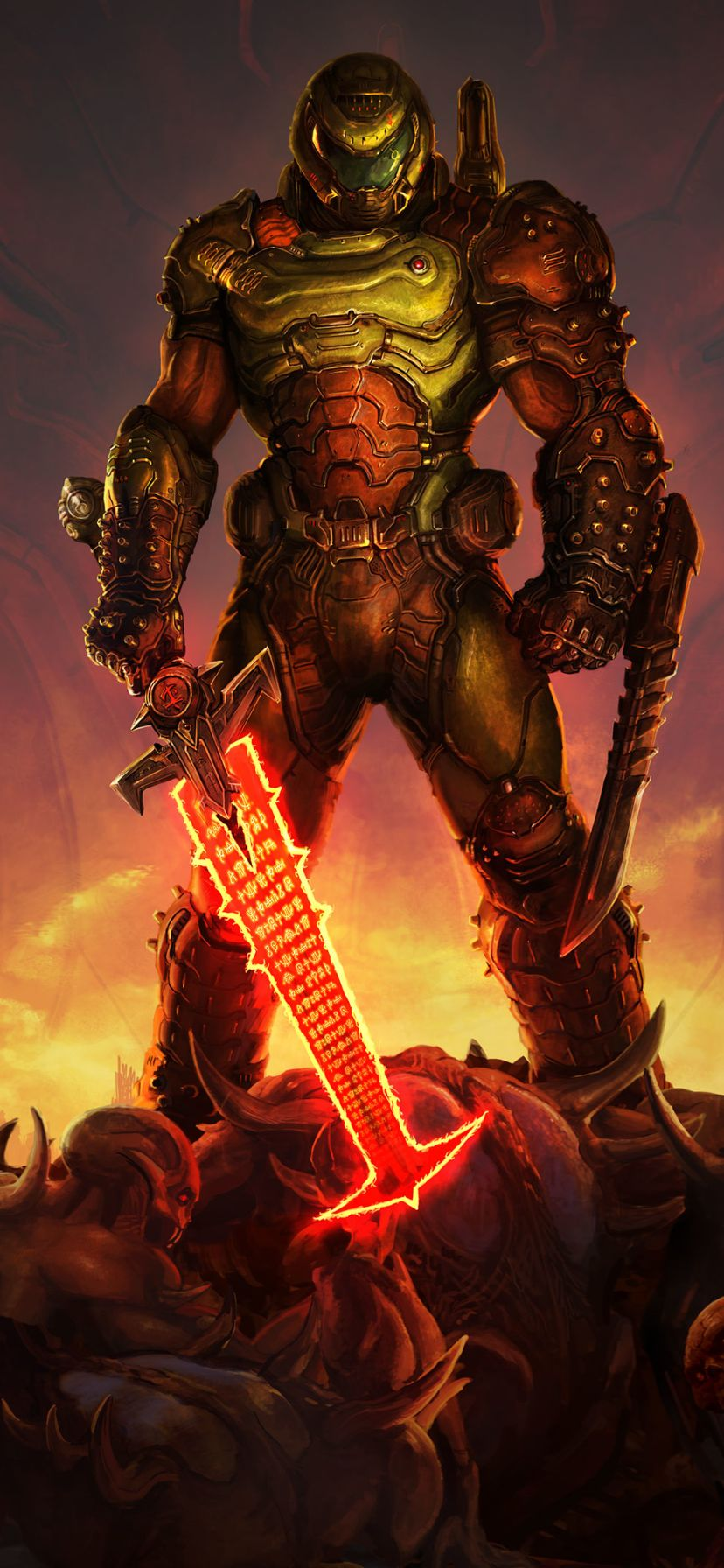 Doom Eternal Mobile Wallpaper In 2020 Doom Demons Doom Doom Game