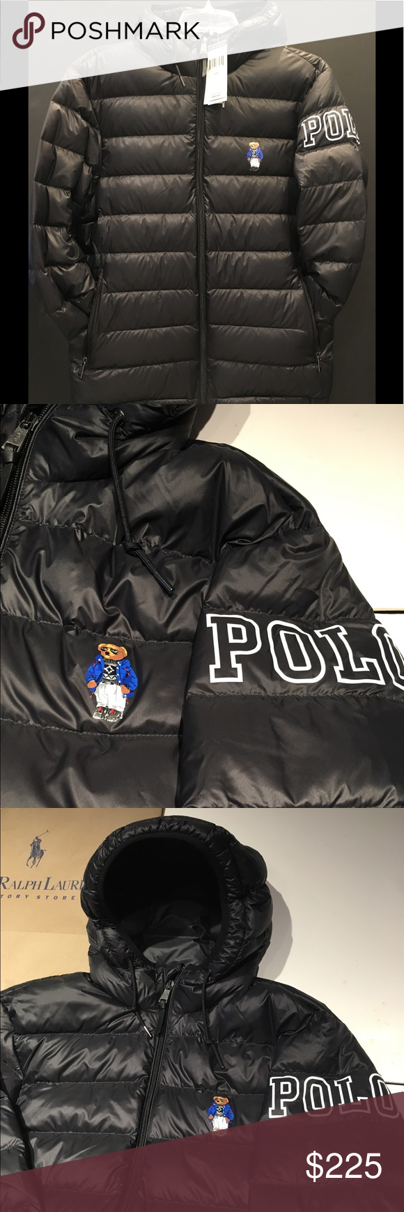 Limited Edition Polo Bear Ski Bear Down Jacket Bear Jacket Down Jacket Jackets