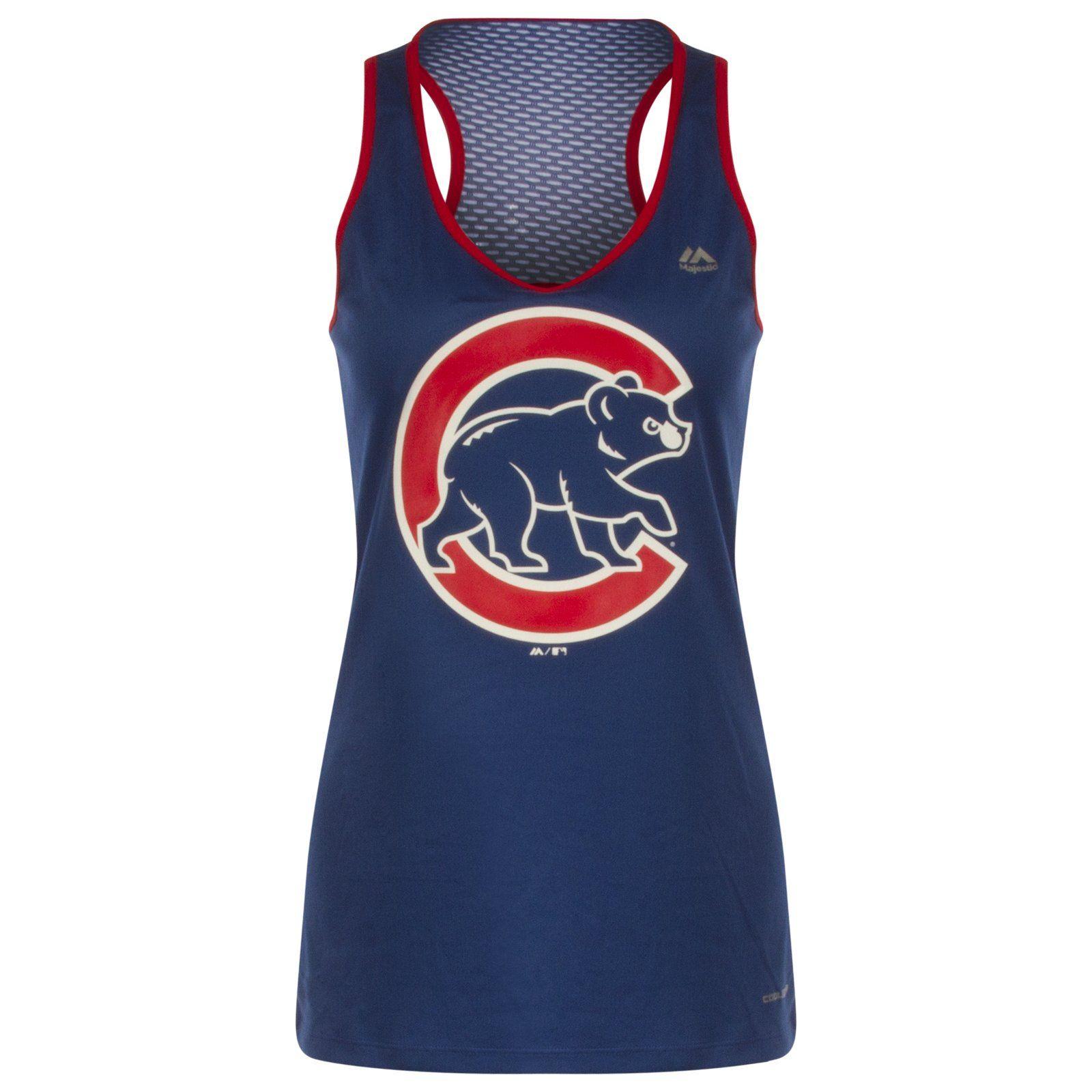 Chicago Cubs Women's Crawl Bear Scoop Neck Open Back Tank