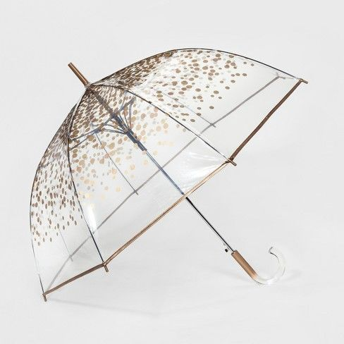 ShedRain Bubble Umbrella - Clear Gold Dot #clearumbrella